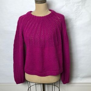 Top shop full sleeve cropped knitted sweater